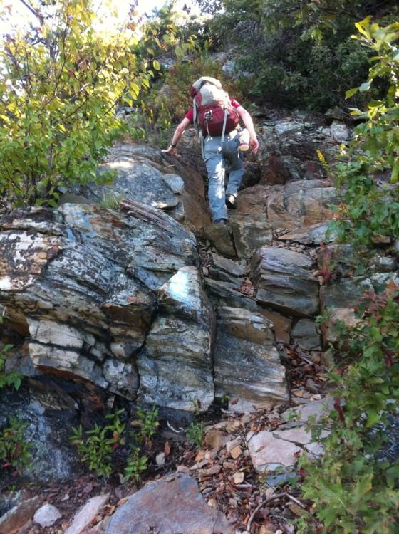 hiking scramble